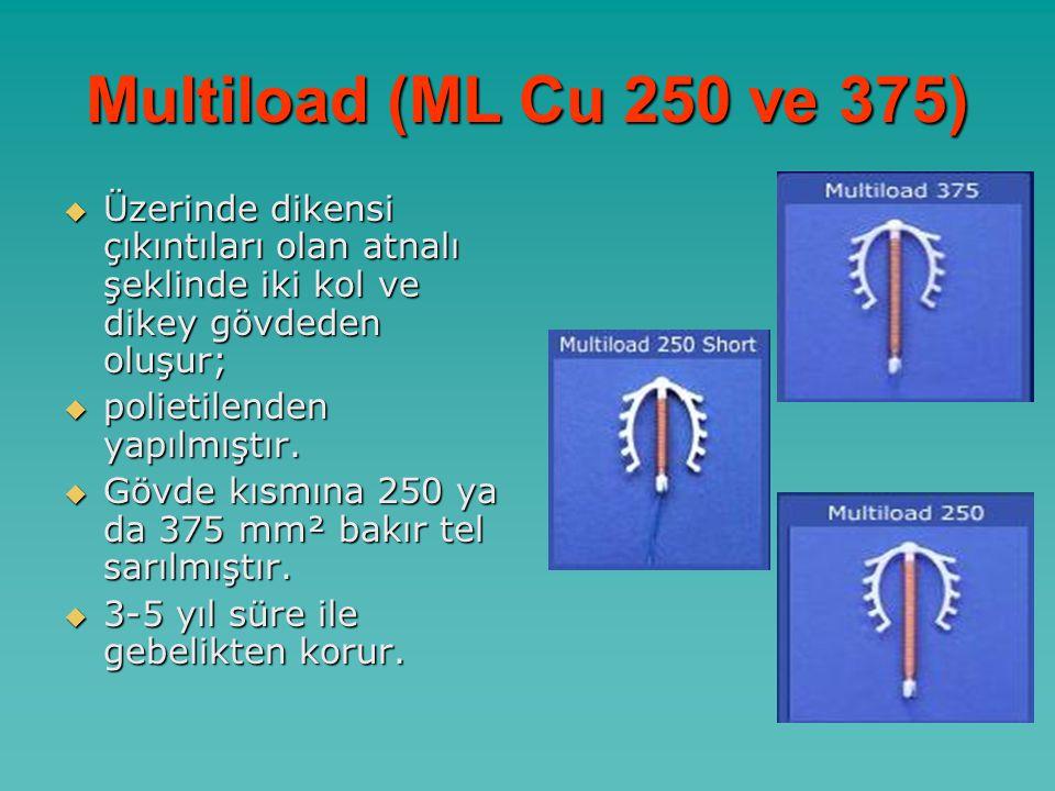 Multiload (ML Cu 250 ve 375)  Üzerinde dikensi çıkıntıları olan atnalı şeklinde iki kol ve dikey gövdeden oluşur;  polietilenden yapılmıştır.