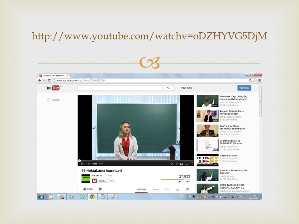   http://www.youtube.com/watchv=oDZHYVG5Dj M  Görsel anlatımın olması  Konunun uzatılmaması  İnce detaylara yer verilmesi BEĞENİLENLER