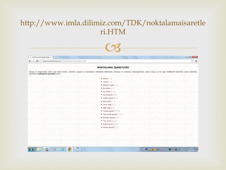  http://www.imla.dilimiz.com/TDK/noktalamaisaretle ri.HTM