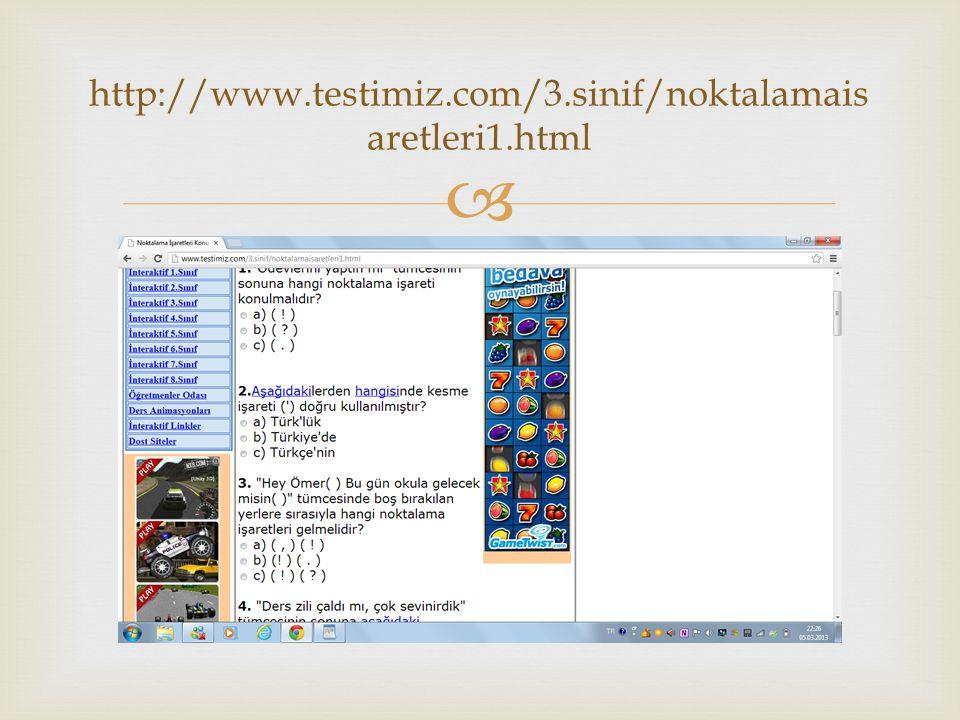  http://www.testimiz.com/3.sinif/noktalamais aretleri1.html