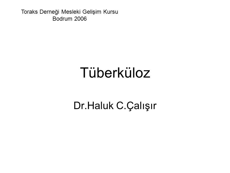 Tüberküloz Dr.Haluk C.Çalışır Toraks Derneği Mesleki Gelişim Kursu Bodrum 2006
