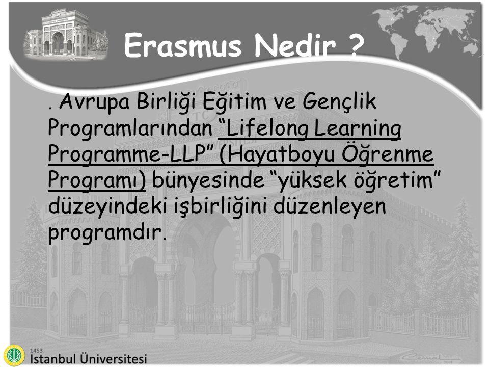 """Erasmus Nedir ?. Avrupa Birliği Eğitim ve Gençlik Programlarından """"Lifelong Learning Programme-LLP"""" (Hayatboyu Öğrenme Programı) bünyesinde """"yüksek öğ"""