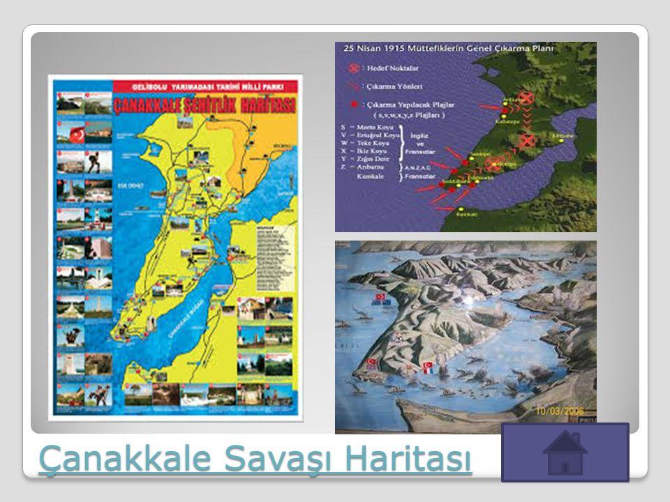 Çanakkale Savaşı Haritası Çanakkale Savaşı Haritası