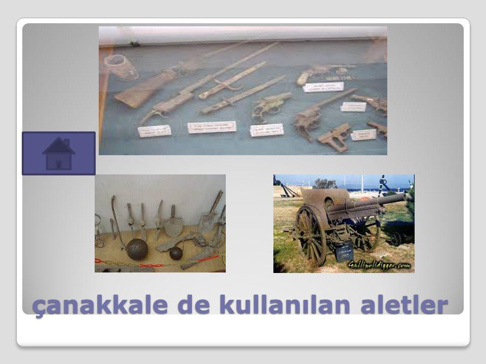 çanakkale de kullanılan aletler