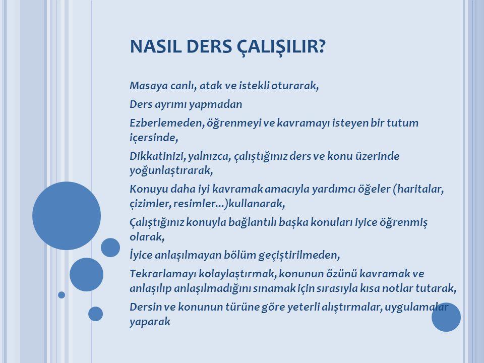 NASIL DERS ÇALIŞILIR.