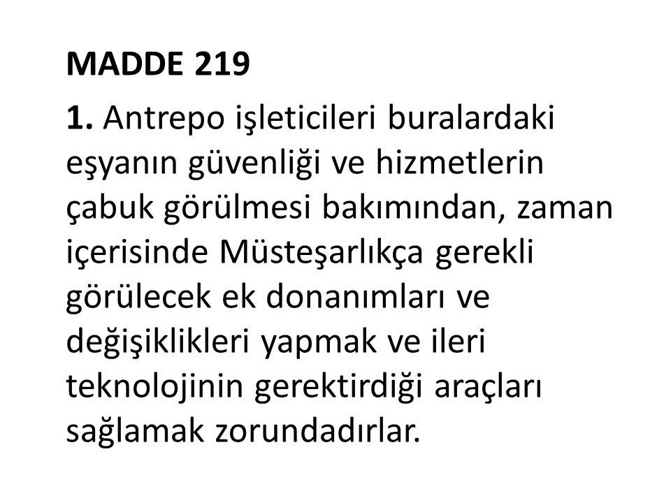 MADDE 219 1.