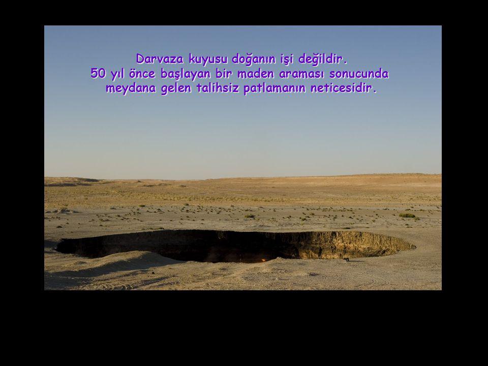 1971 yılında yapılan maden arayışı sırasında Bir petrol matkabı bilinmeyen bu çukurun birden çökmesine sebep oldu böylelikle bu kuyu ortaya çıktı