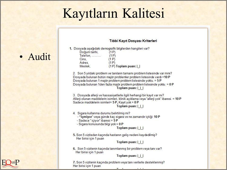 / 55 Kayıtların Kalitesi Audit