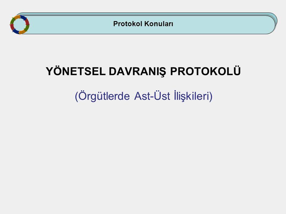 Protokol Konuları YÖNETSEL DAVRANIŞ PROTOKOLÜ (Örgütlerde Ast-Üst İlişkileri)