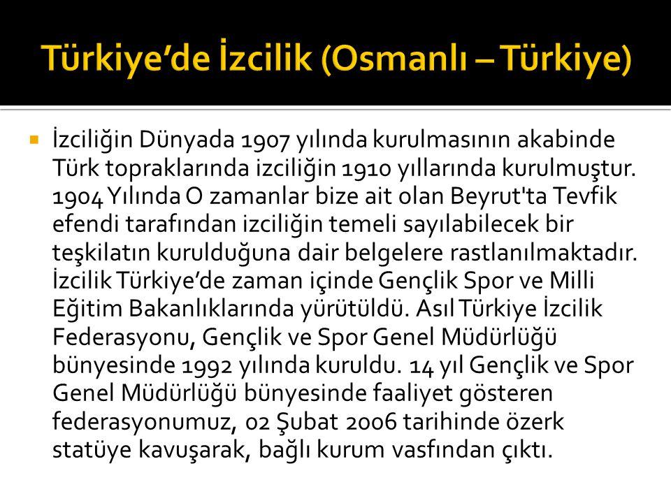  İzciliğin Dünyada 1907 yılında kurulmasının akabinde Türk topraklarında izciliğin 1910 yıllarında kurulmuştur.