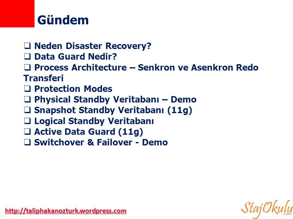 http://taliphakanozturk.wordpress.com Neden Disaster Recovery?
