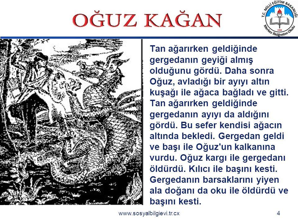 LOGO www.sosyalbilgievi.tr.cx4 Tan ağarırken geldiğinde gergedanın geyiği almış olduğunu gördü.