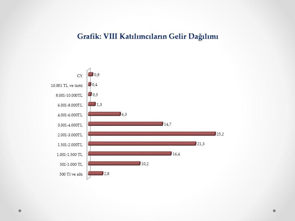 Grafik: VIII Katılımcıların Gelir Dağılımı