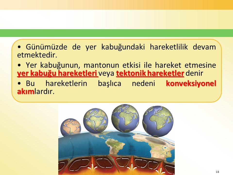 mehmetaliercan@hotmail.com – www.cografya.biz - www.cografyakulubu.com Günümüzde de yer kabuğundaki hareketlilik devam etmektedir. yer kabuğu hareketl
