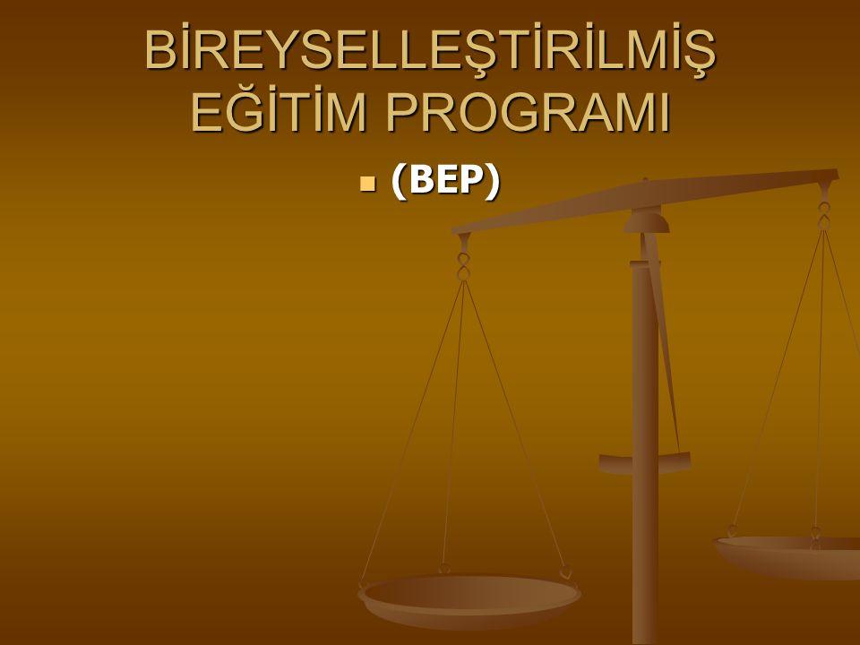 BİREYSELLEŞTİRİLMİŞ EĞİTİM PROGRAMI MADDE 69: (1) Bireyselleştirilmiş eğitim programı nedir .