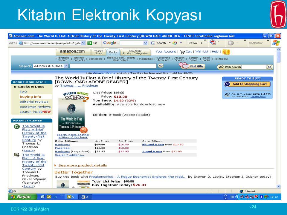 - 24 DOK 422 Bilgi Ağları Kitabın Elektronik Kopyası