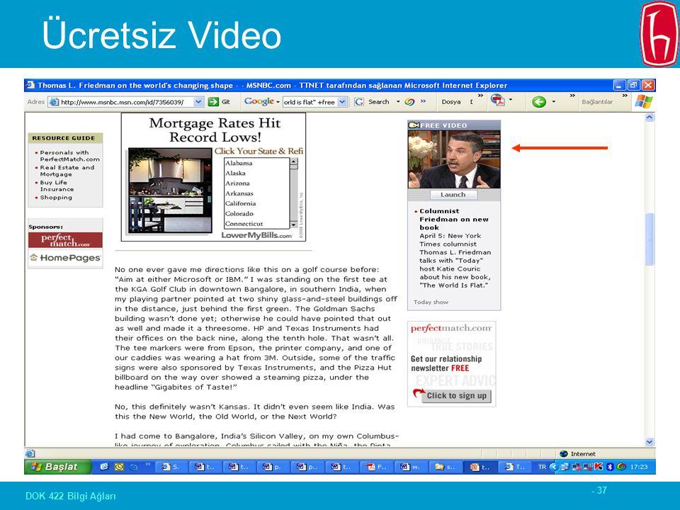 - 37 DOK 422 Bilgi Ağları Ücretsiz Video
