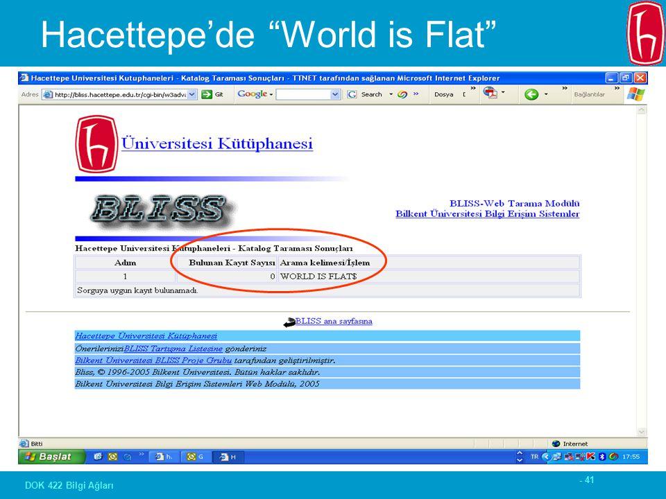 - 41 DOK 422 Bilgi Ağları Hacettepe'de World is Flat