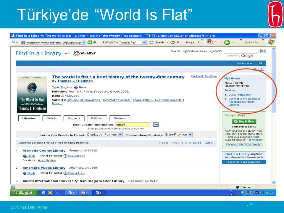 - 60 DOK 422 Bilgi Ağları Türkiye'de World Is Flat