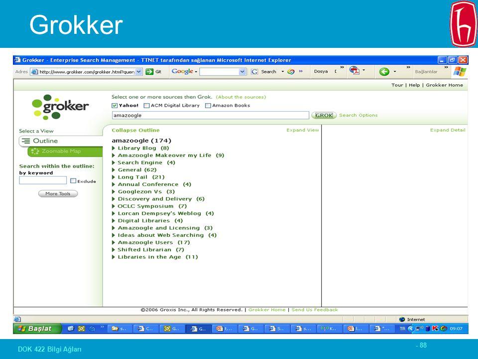- 88 DOK 422 Bilgi Ağları Grokker