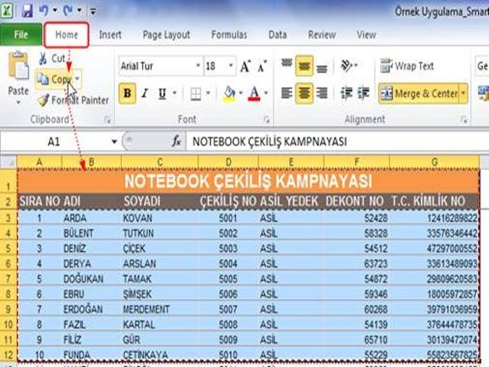  Tablo stilleri aracı, tablonuzun satır ve sütunlarının formatını düzenleyerek daha iyi okunmasını sağlar. Bir tablo oluşturduğunuzda Excel standart