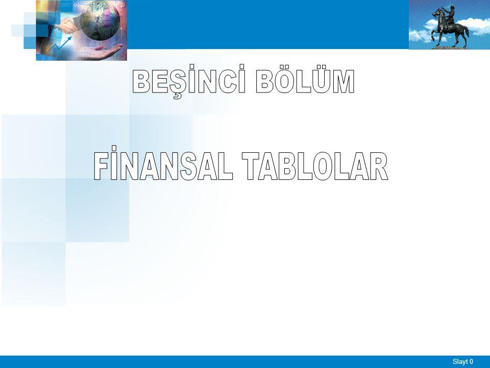 Slayt 1 Finansal Tablolar ve Özellikleri ■ Finansal tablolar, işletmenin ■ Finansal durumunu, ■ Faaliyet durumunu, ■ Faaliyet sonuçlarını ve ■ Finansal yönden gelişmesinin yeterli olup olmadığını belirleyen ve işletme hakkında geleceğe ait tahminlerde bulunmaya yarayan tablolardır.