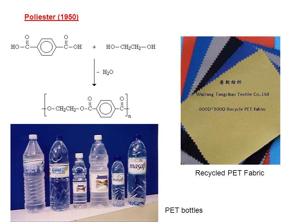 Poliester (1950) PET bottles Recycled PET Fabric