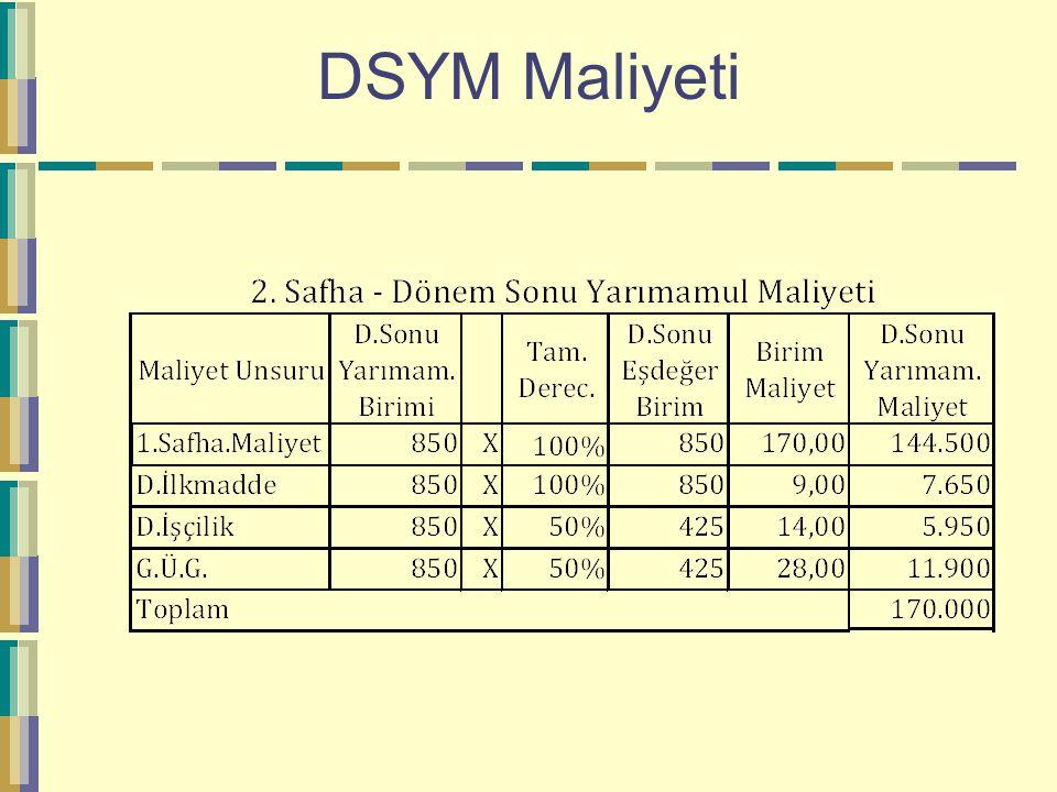DSYM Maliyeti
