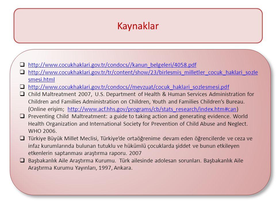 Kaynaklar  http://www.cocukhaklari.gov.tr/condocs//kanun_belgeleri/4058.pdf http://www.cocukhaklari.gov.tr/condocs//kanun_belgeleri/4058.pdf  http:/