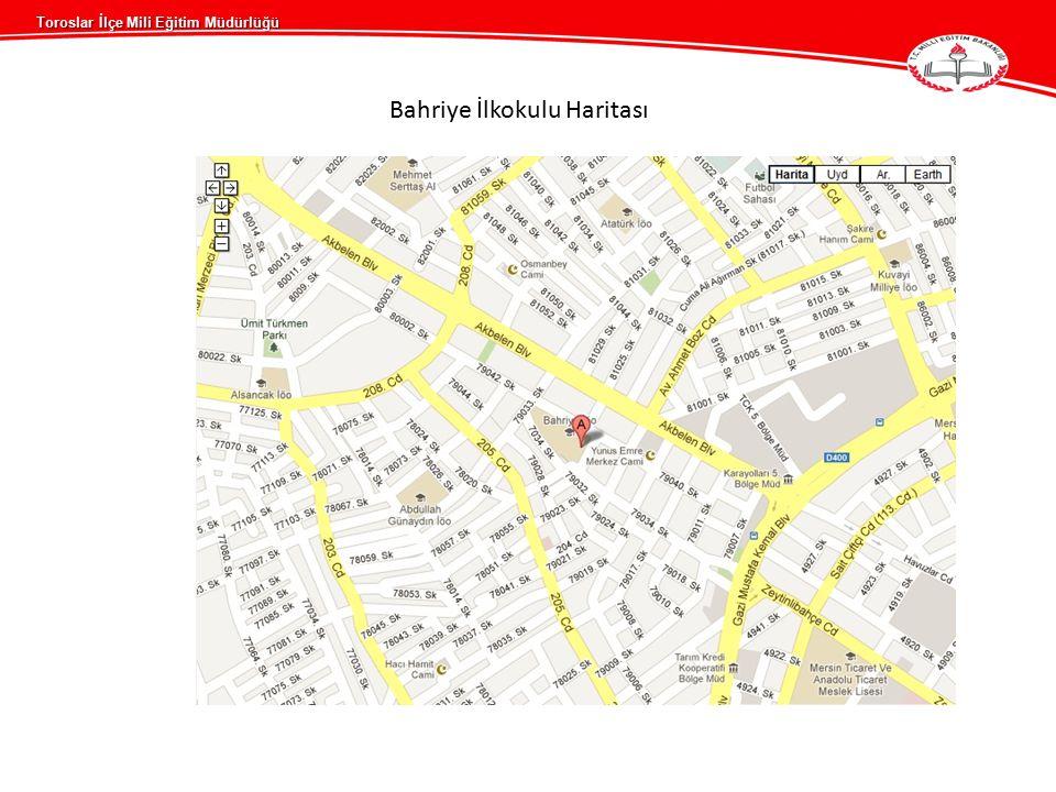 Toroslar İlçe Mili Eğitim Müdürlüğü Bahriye İlkokulu Haritası