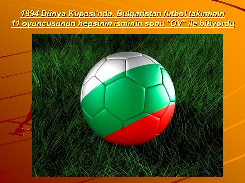 1994 Dünya Kupası'nda, Bulgaristan futbol takımının 11 oyuncusunun hepsinin isminin sonu