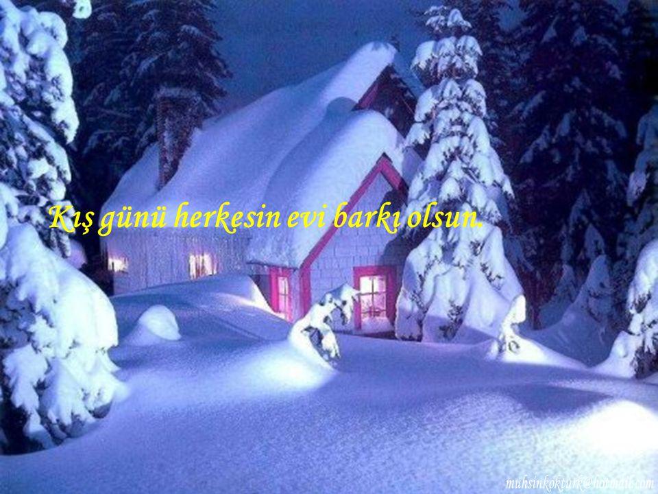 Kış günü herkesin evi barkı olsun.