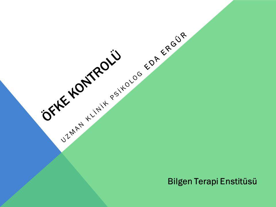 ÖFKE KONTROLÜ UZMAN KLİNİK PSİKOLOG EDA ERGÜR Bilgen Terapi Enstitüsü