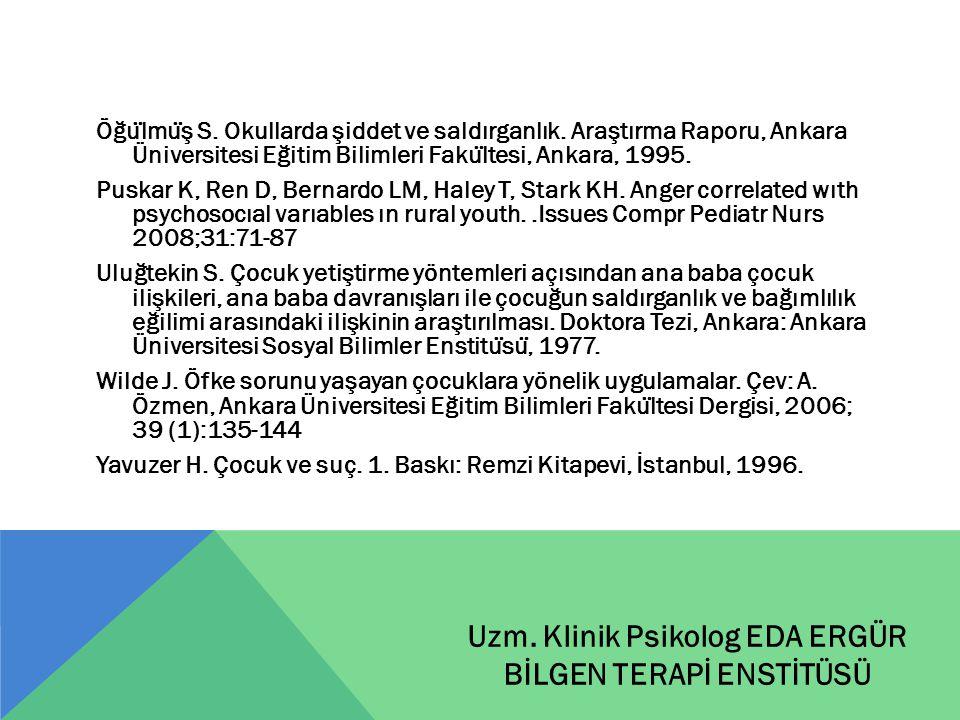 Öğu ̈ lmu ̈ ş S. Okullarda şiddet ve saldırganlık. Araştırma Raporu, Ankara Üniversitesi Eğitim Bilimleri Faku ̈ ltesi, Ankara, 1995. Puskar K, Ren D,
