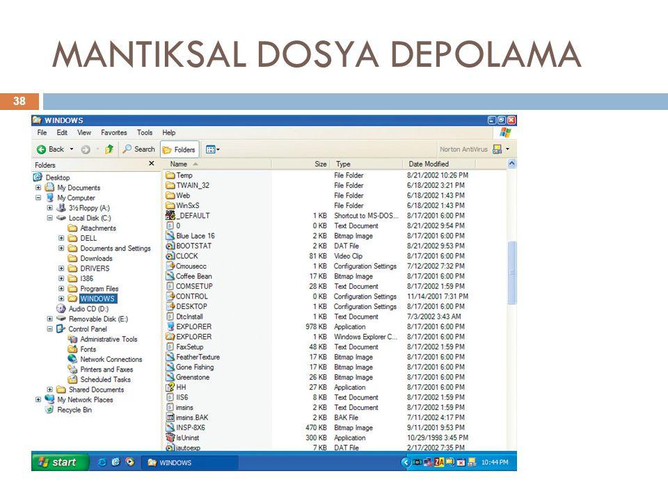 MANTIKSAL DOSYA DEPOLAMA 38