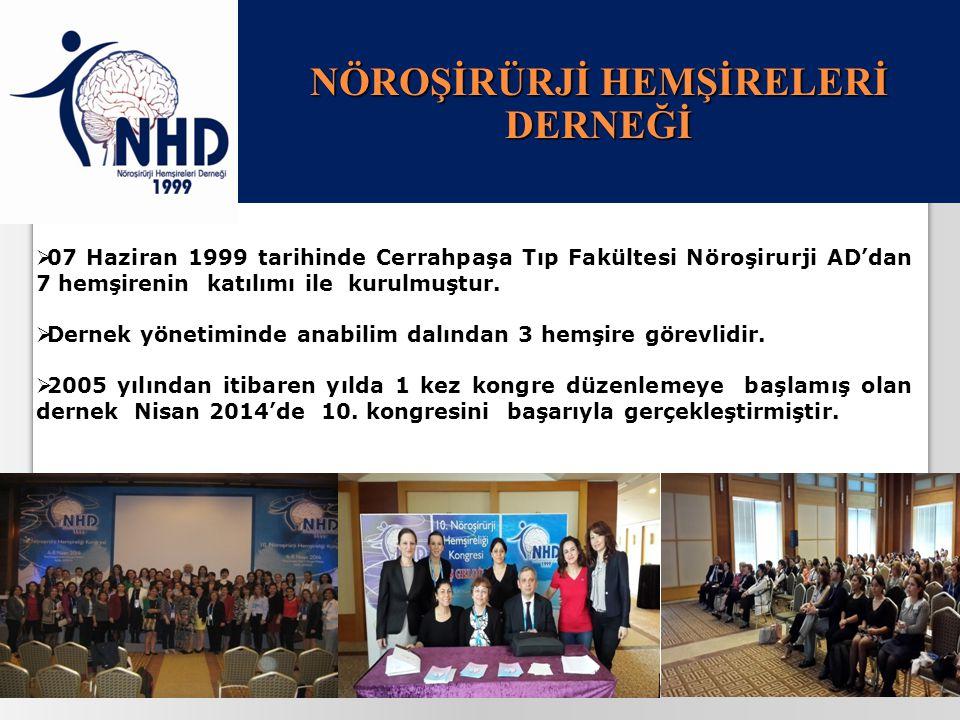 25.04.201513  07 Haziran 1999 tarihinde Cerrahpaşa Tıp Fakültesi Nöroşirurji AD'dan 7 hemşirenin katılımı ile kurulmuştur.  Dernek yönetiminde anabi