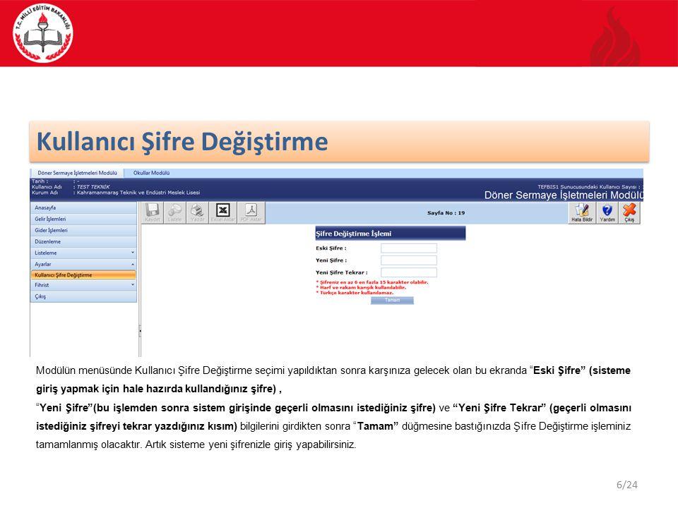 7/24 Fihrist 23451 Kullanmakta olduğunuz modülün ana ekran görüntüsünden Fihrist işlemi seçilir ve Kişiler kategorisi işaretlenir.