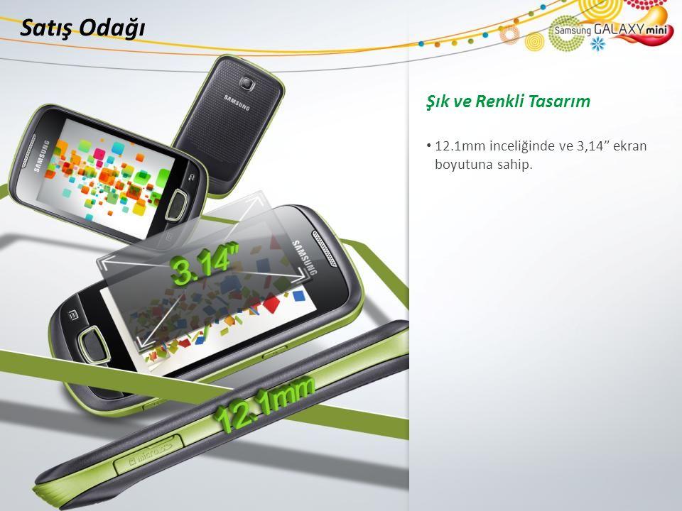 Satış Odağı Şık ve Renkli Tasarım 12.1mm inceliğinde ve 3,14 ekran boyutuna sahip.
