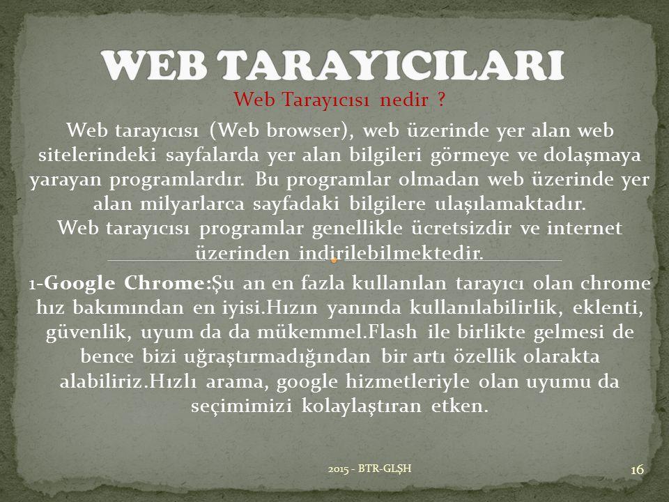 Web Tarayıcısı nedir .