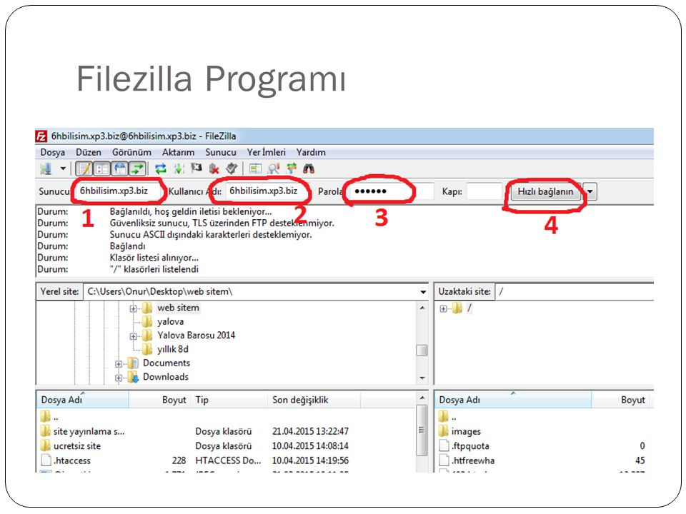 Filezilla Programı