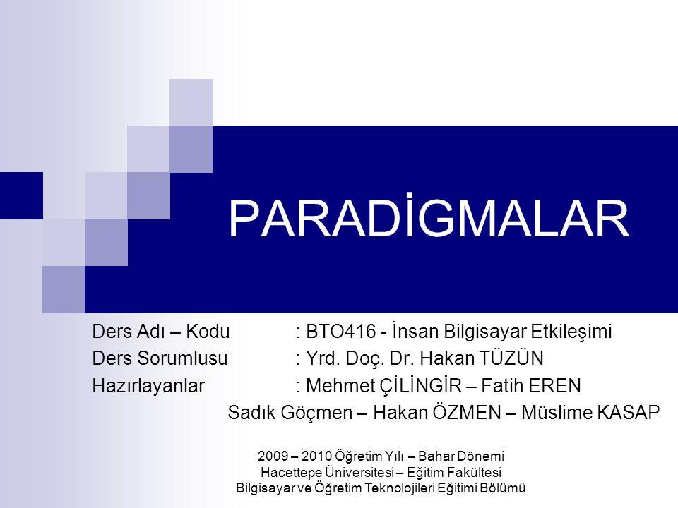 Paradigma Nedir.