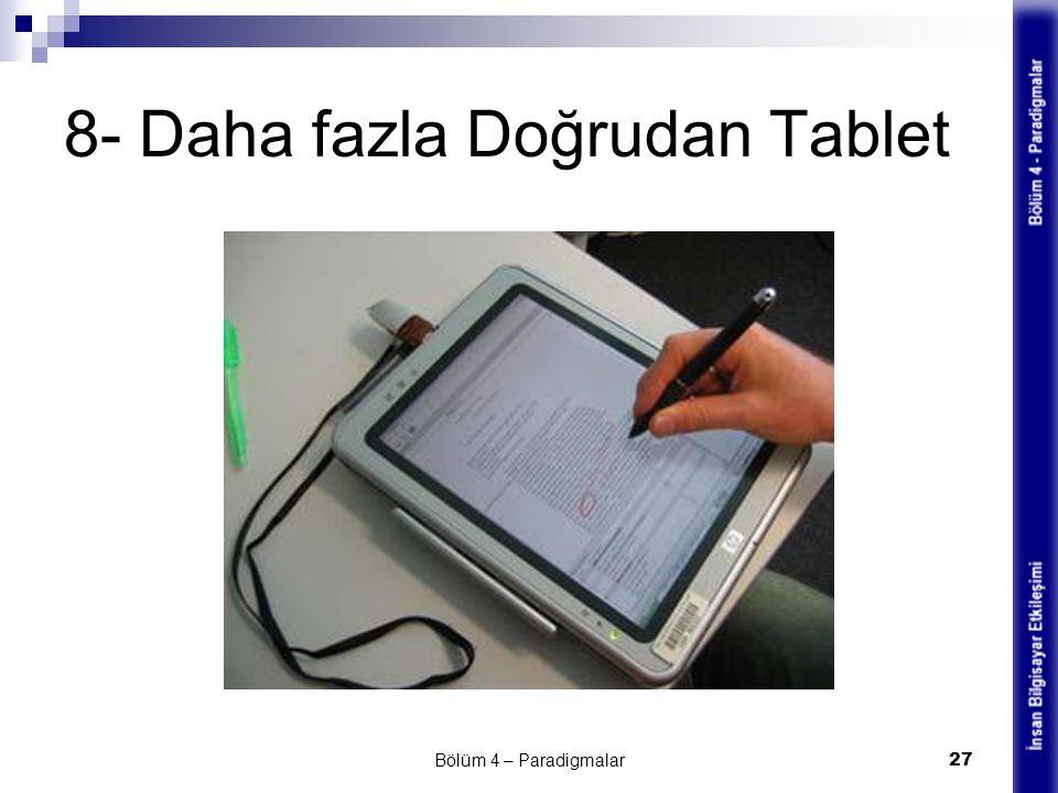 8- Daha fazla Doğrudan Tablet Bölüm 4 – Paradigmalar 27