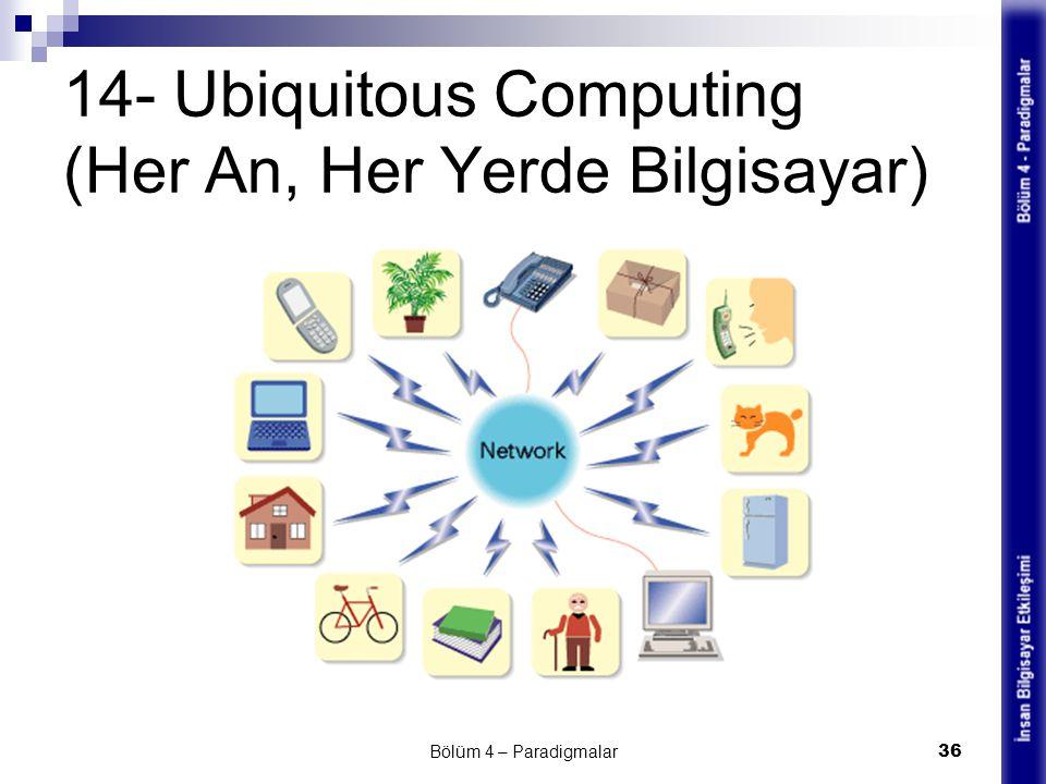 14- Ubiquitous Computing (Her An, Her Yerde Bilgisayar) Bölüm 4 – Paradigmalar 36