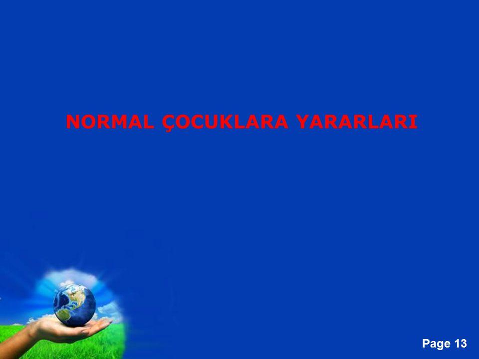Free Powerpoint Templates Page 13 NORMAL ÇOCUKLARA YARARLARI