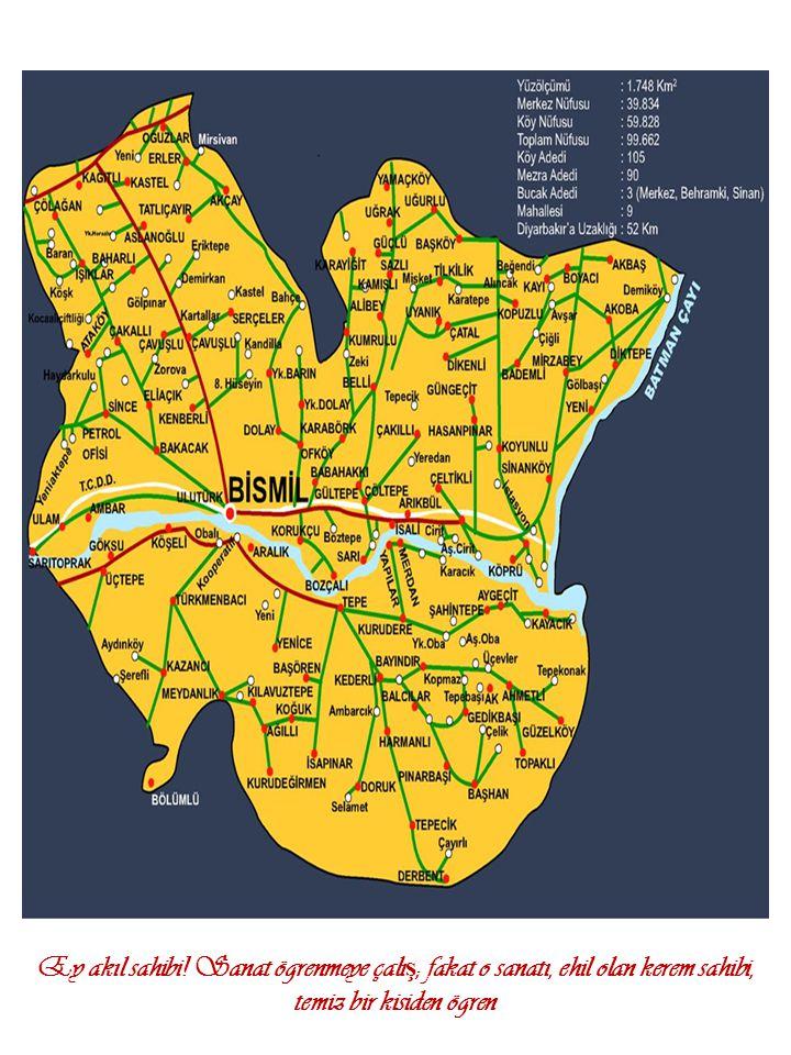 NüfusErkekKadın Toplam54.65754.291 Genel Toplam: 108.948 3 a)-BİSMİL İN TARİHÇESİ Bismil ilçesi yaklaşık olarak 250- 300 yıl önce Bağdat ve Musul yöresinden göç ederek gelen Türkmen obaları tarafından kurulmuş olup, sonradan bu göçe Konya çevresinden gelen Türkan aşireti de katılmıştır.
