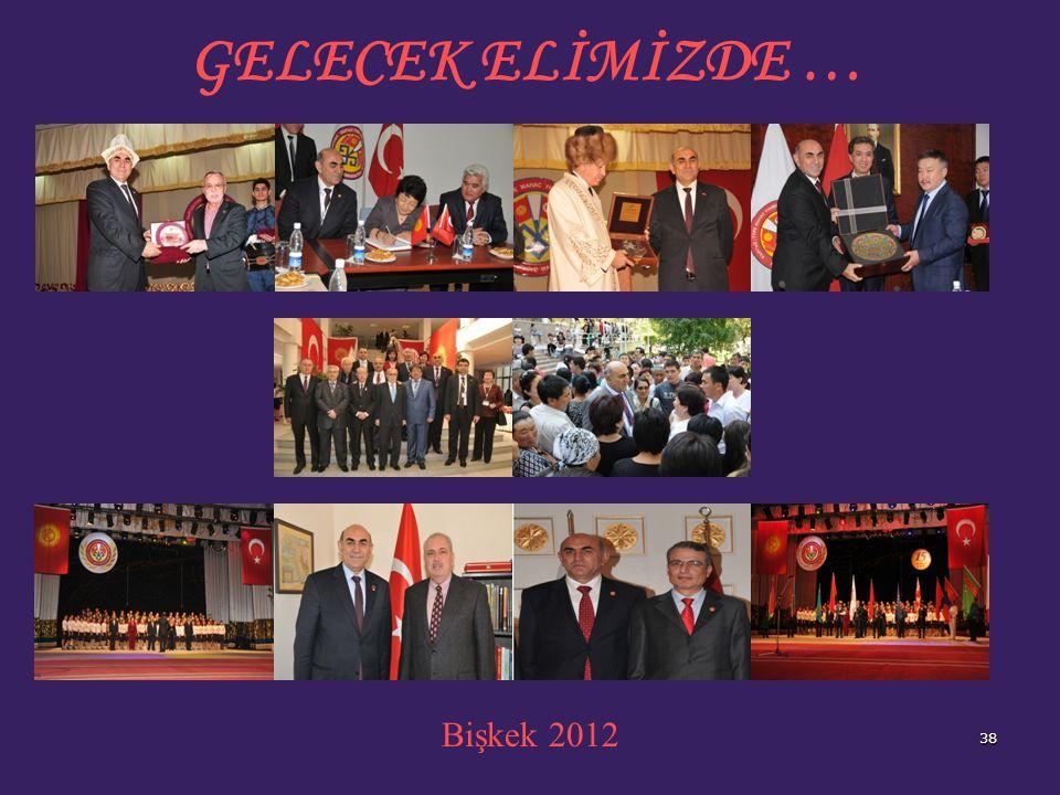 GELECEK ELİMİZDE … Bişkek 2012 38