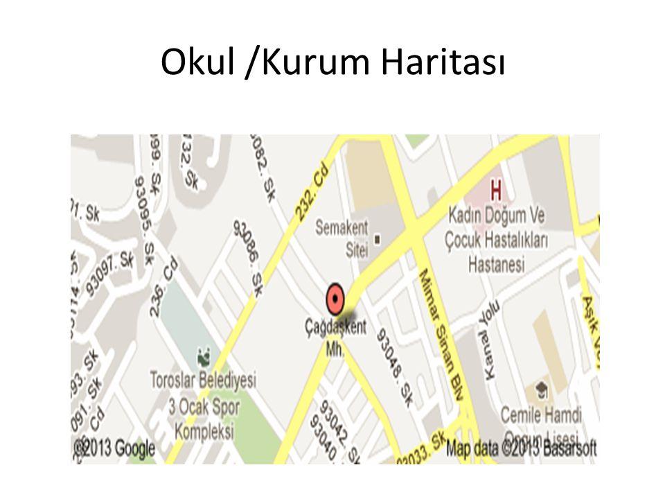 Okul /Kurum Haritası
