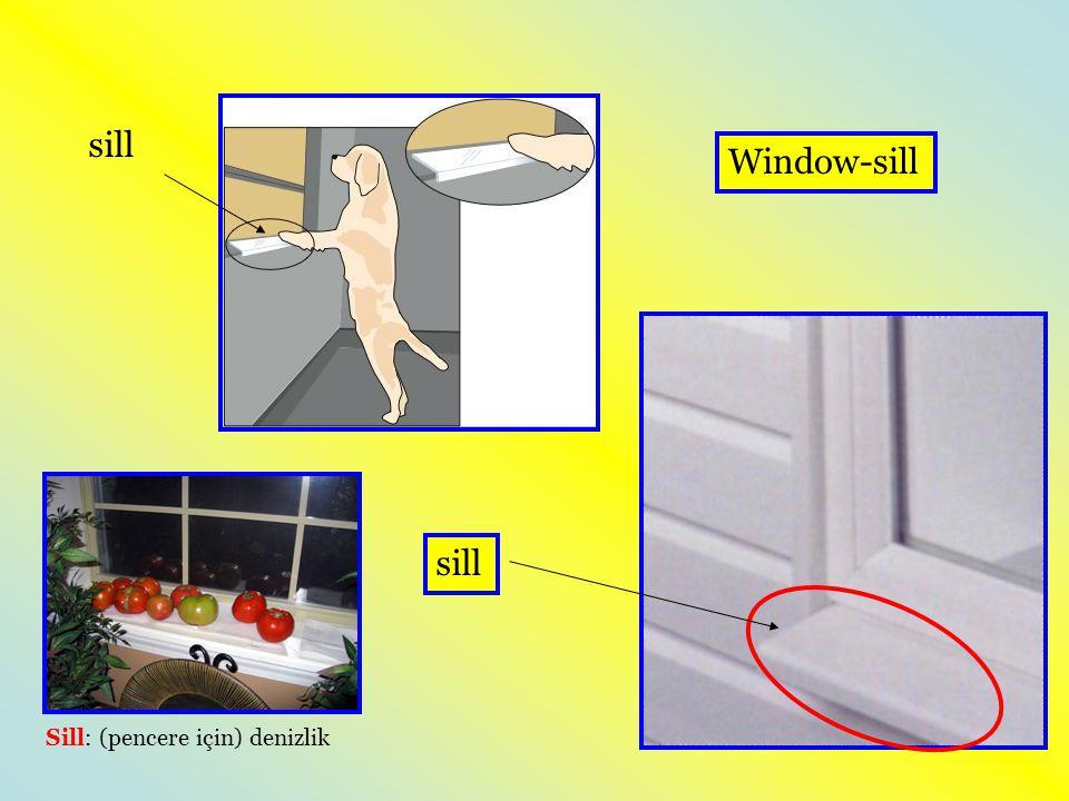 sill Sill: (pencere için) denizlik Window-sill