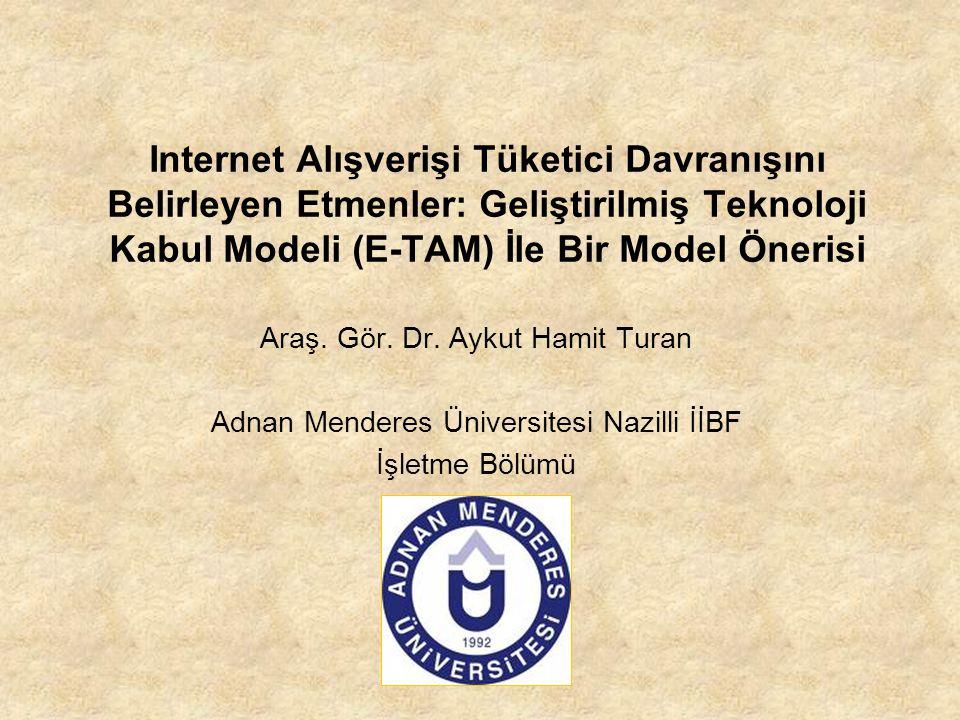 Internet Alışverişi Tüketici Davranışını Belirleyen Etmenler: Geliştirilmiş Teknoloji Kabul Modeli (E-TAM) İle Bir Model Önerisi Araş. Gör. Dr. Aykut