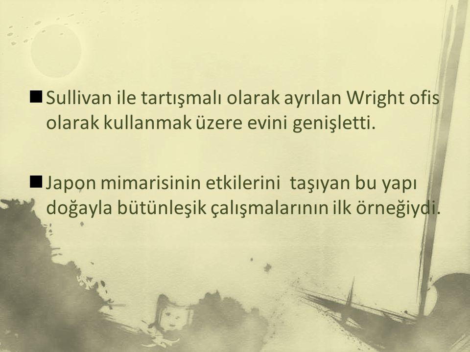 Wright evini ve ailesi terkederek müşterisinin eşi ile Avrupa'ya gitti.